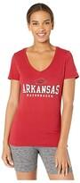 Champion College Arkansas Razorbacks University V-Neck Tee (Cardinal 2) Women's T Shirt