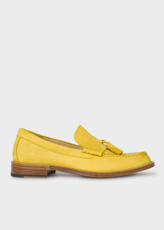 Paul Smith Men's Yellow Nubuck 'Lewin' Loafers