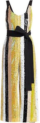 STAUD Puli Sequin Striped Jumpsuit
