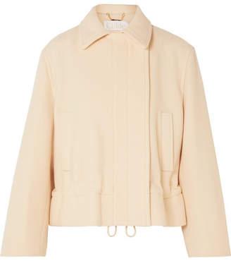 Chloé Cropped Wool-blend Jacket - White