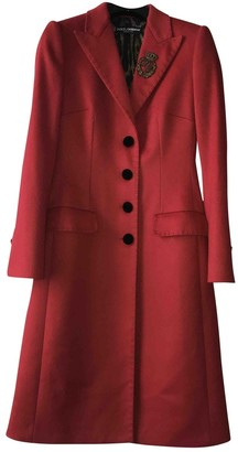 Dolce & Gabbana Red Wool Coats