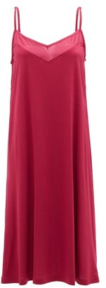 Hanro Alika Charmeuse Slip Dress - Womens - Dark Pink