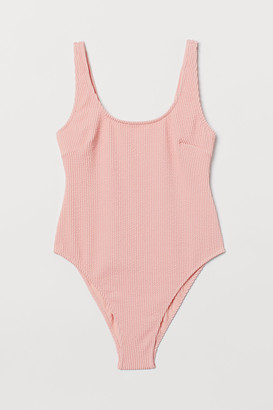 H&M Crinkled Swimsuit High leg