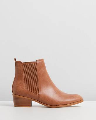 Spurr Women's Brown Chelsea Boots - Philo Ankle Boots - Size 5 at The Iconic