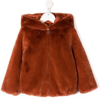 Il Gufo Hooded Faux-Fur Jacket