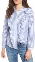 Madewell Women's Whitney Stripe Ruffle Blouse