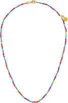 Gurhan Delicate Hue 24k Red Spinel & Turquoise Beaded Necklace