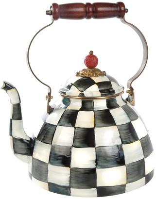 Mackenzie Childs MacKenzie-Childs - Courtly Check Enamel Tea Kettle - Large