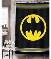 Batman Bathroom Set (Shower Curtain + Bath Rug + Waste Can)