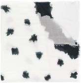 Faliero Sarti abstract print oversized scarf
