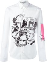 McQ by Alexander McQueen drawing print shirt