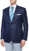 Brioni Solid Two-Button Jacket, Navy