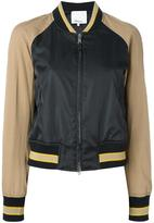 3.1 Phillip Lim contrast bomber jacket - women - Cotton/Polyamide/Spandex/Elastane/Wool - 4