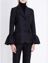 Co Flared-cuff wool-blend jacket