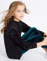Marks and Spencer Velvet Longline Top & Leggings Outfit (3-14 Years)