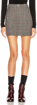 Helmut Lang Femme Hi Mini Skirt in Charcoal | FWRD