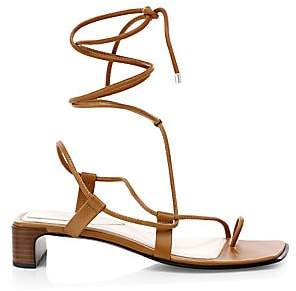 Rag & Bone Women's Cindy Ankle-Wrap Leather Toe-Ring Sandals