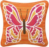 Trina Turk Mariposa Pink Needlepoint Pillow