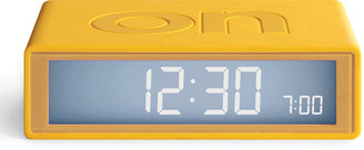 Lexon Flip+ Travel Alarm Clock - Yellow