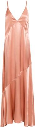 Les Héroïnes Crepe-satin Maxi Slip Dress