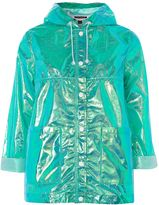 Topshop Metallic Raincoat Mac