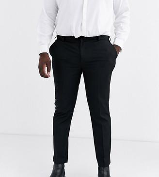 Burton Menswear Big & Tall smart trousers in black