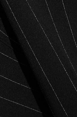 Ganni Pinstriped Crepe Midi Skirt