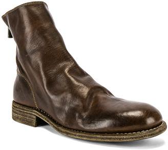Guidi Back Zip Boot in Brown | FWRD