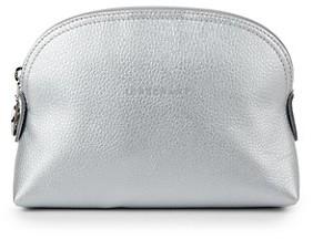 Longchamp Metallic Leather Clutch