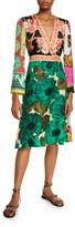 Etro Floral-Patchwork-Print Silk Dress