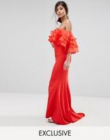 Jarlo Maxi Dress With Organza Frill Top