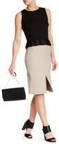Nicole Miller Stretch Tech Slit Skirt