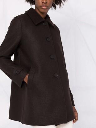 Harris Wharf London Single-Breasted Virgin Wool Coat
