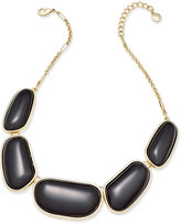 Charter Club Gold-Tone Colored Stone Necklace, Only at Macy's