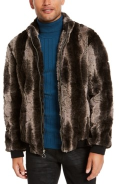 INC International Concepts I.n.c. Men's Faux Fur Bomber Jacket, Created for Macy's