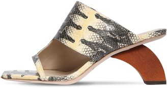 REJINA PYO 60mm Python Print Leather Sandals