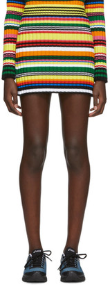 AGR SSENSE Exclusive Multicolor Striped Miniskirt