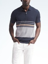 Banana Republic Pique Block Stripe Polo