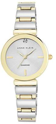 Anne Klein Women's Madison Quartz Watch with Silver Dial Analogue Display and Two Tone Alloy Bracelet AK/N2435SVTT
