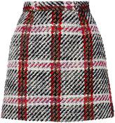 Carven Checked Mini Skirt