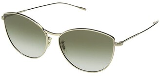Oliver Peoples Rayette (Soft Gold/Olive Gradient) Fashion Sunglasses