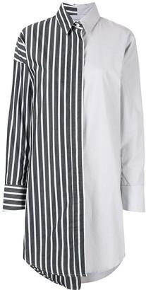 Strateas Carlucci Contrast-Panel Shirt Dress