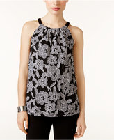 INC International Concepts Lace-Print Halter Top, Created for Macy's