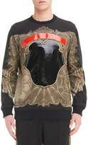 Givenchy Men's Coated Currency Print Sweatshirt