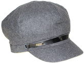 Nine West Charcoal Gray Wool-Blend Newsboy Cap