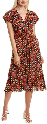 Diane von Furstenberg Davina Silk-Blend A-Line Dress