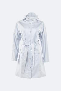 Rains Curve Metallic Ice Grey Raincoat 1206 - 25% Off - XS/S