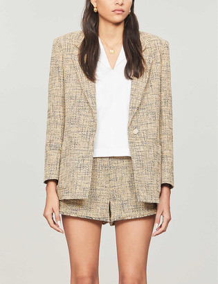 Sandro Sone single-breasted tweed jacket