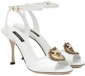 Dolce & Gabbana Devotion matelassA leather sandals