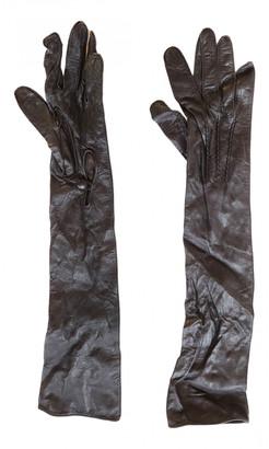 Nicole Farhi Brown Leather Gloves